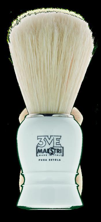 B01 - Pennello barba manico in plastica - setola sbiancata