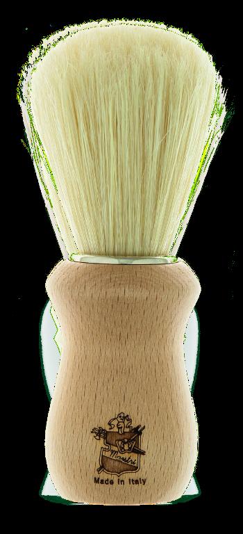 BL01 - Pennello barba manico in legno - setola sbiancata