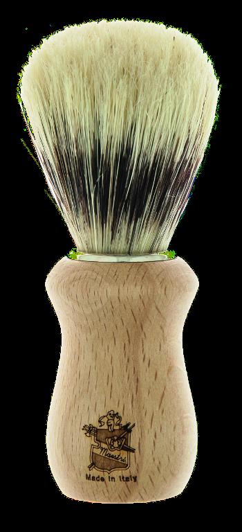 BL02 - Pennello barba manico in legno imitazione tasso