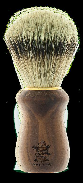 BT01 - Pennello barba manico in noce - puro tasso